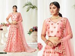 Pink color Net Fabric Lehenga Choli