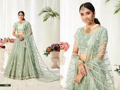 Powder Green color Net Fabric Lehenga Choli