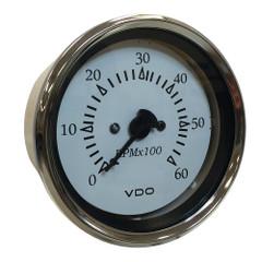 "VDO Cockpit Marine 85MM (3-3\/8"") Sterndrive Tachometer - White Dial\/Chrome Bezel [333-15274]"