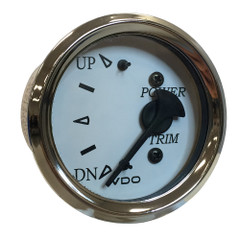 "VDO Cockpit Marine 52MM (2-1\/16"") Trim Gauge f\/Johnson\/Envinrude Engines - White Dial\/Chrome Bezel [382-15280]"