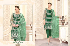 Green color Net Fabric Suit