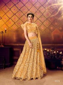 Orange color Soft Net Fabric Lehenga Choli