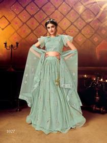 Light Blue color Soft Net Fabric Lehenga Choli