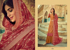 Brown color Pure Viscose Silk Fabric Suit