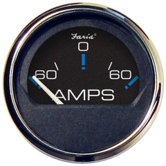 "Faria Chesapeake Black SS 2"" Ammeter Gauge - -60 to +60 AMPS [13736]"