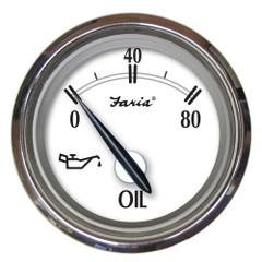 "Faria Newport SS 2"" Oil Pressure Gauge - 0 to 80 PSI [25001]"