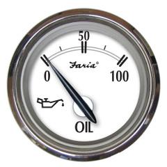 "Faria Newport SS 2"" Oil Pressure Gauge - 0 to 100 PSI [25005]"