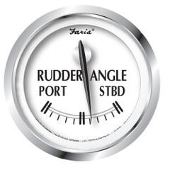 "Faria Newport SS 2"" Rudder Angle Indicator Gauge [25006]"