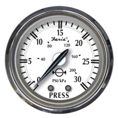 "Faria Newport SS 2"" Water Pressure Gauge Kit - 0 to 30 PSI [25008]"