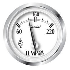 "Faria Newport SS 2"" Cylinder Head Temperature Gauge w\/Sender - 60 to 220 F [25011]"