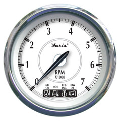 "Faria Newport SS 4"" Tachometer w\/System Check Indicator f\/Johnson\/Evinrude Gas Outboard - 7000 RPM [45000]"