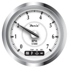 "Faria Newport SS 4"" Tachometer w\/System Check Indicator f\/Suzuki Gas Outboard - 0 to 7000 RPM [45001]"