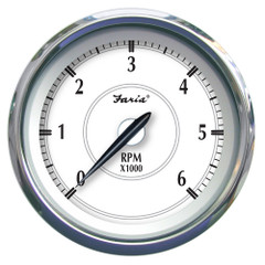 "Faria Newport SS 4"" Tachometer f\/Gas Inboard\/Outboard - 0 to 6000 RPM [45002]"