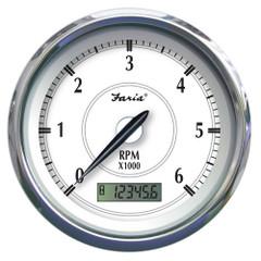 "Faria Newport SS 4"" Tachometer w\/Hourmeter f\/Gas Outboard - 7000 RPM [45005]"