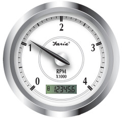 """Faria Newport SS 4"""" Tachometer w\/Hourmeter f\/Diesel w\/Magnetic Pick-Up - 4000 RPM [45006]"""
