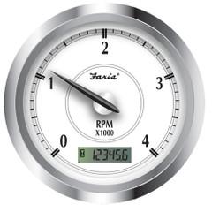 "Faria Newport SS 4"" Tachometer w\/Hourmeter f\/Diesel w\/Magnetic Take Off - 4000 RPM [45007]"