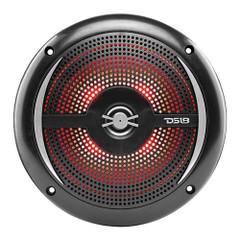 "DS18 HYDRO 6.5"" 2-Way Marine Slim Speakers w\/RGB LED Lighting 100W - Black [NXL-6SL\/BK]"