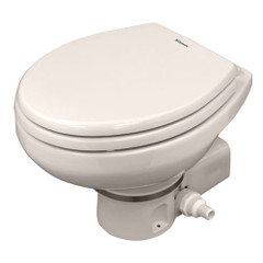 Dometic MasterFlush 7160 Bone Electric Macerating Toilet w\/Orbit Base - Raw Water [9108834578]