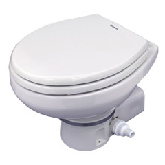 Dometic MasterFlush 7160 White Electric Macerating Toilet w\/Orbit Base - 24V - Raw Water [9108832318]