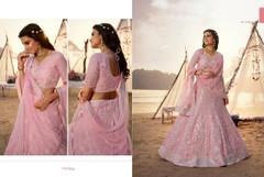 Pinkish Mauve color Organza Fabric Lehenga Choli