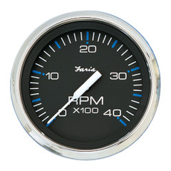 "Faria Chesapeake Black SS 4"" Tachometer - 4,000 RPM (Diesel - Magnetic Pick-up) [33719]"