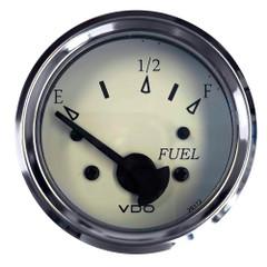 "VDO Cockpit Marine 52MM (2-1\/16"") Fuel Level Gauge - White Dial\/Chrome Bezel [301-15278]"