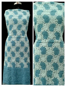 Blue and White color Georgette Fabric Short Kurti