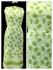 Green and White color Georgette Fabric Short Kurti