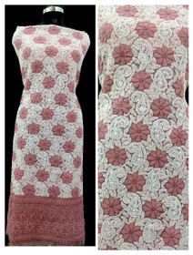Pink and White color Georgette Fabric Short Kurti
