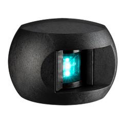Aqua Signal Series 28 Starboard LED Side Mount Light - Black Housing [28202-7]