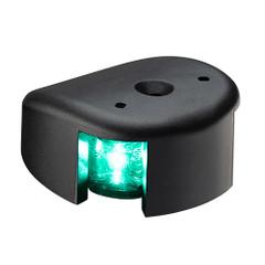 Aqua Signal Series 28 Starboard LED Deck Mount Light - Black Housing [28200-7]