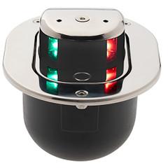 Aqua Signal Series 28 Bi-Color LED Hideaway Deck Mount Light - Stainless Steel Housing [28600-7]