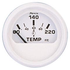 "Faria Dress White 2"" Cylinder Head Temperature Gauge (60 - 220 F) [13113]"