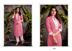 Pink color Cotton Fabric Bottom and Top
