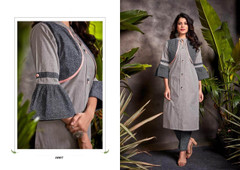 Grey color Cotton Fabric Bottom and Top