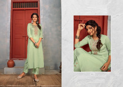 Light Pista Green color Rayon Fabric Top and Bottom
