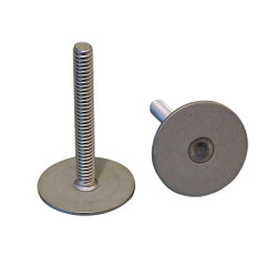 """Weld Mount Stainless Steel Stud 1.25"""" Base 1\/4 x 20 Thread 0.75"""" Tall - 100 Pack [142012100]"""