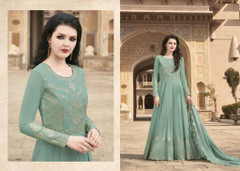 Green color Georgette Fabric Suit