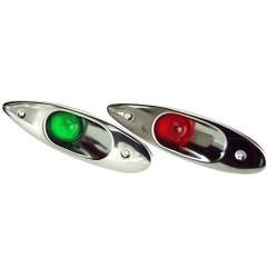 Whitecap Flush Mount LED Sidelights - 304 Stainless Steel - Pair [S-0918LED]