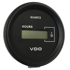 "VDO Cockpit Marine 52mm (2-1\/16"") LCD Hourmeter - Black Dial\/Chrome Bezel [331-546]"