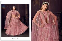 Pink color Soft Net Fabric Lehenga Choli
