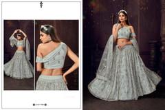 Soft Blue color Soft Net Fabric Lehenga Choli