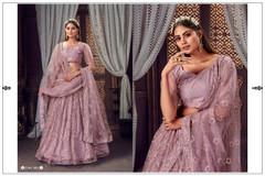 Mauve color Soft Net Fabric Lehenga Choli