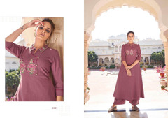 Mauve color Heavy Rayon Two Tone Fabric Top and Bottom