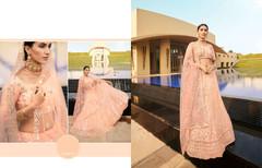 Peach color Embroidered Soft Net Fabric Lehenga Choli