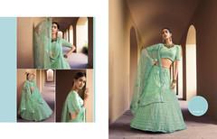 Light Green color Embroidered Soft Net Fabric Lehenga Choli