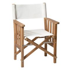Whitecap Directors Chair II w\/Sail Cloth Seating - Teak [61054]