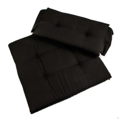 Whitecap Seat Cushion Set f\/Directors Chair - Black [97241]