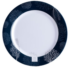 "Marine Business Melamine Flat, Round Dinner Plate - LIVING - 10"" Set of 6 [18001C]"