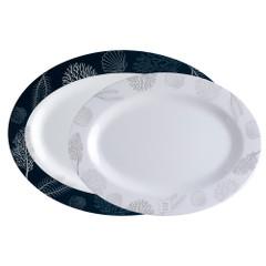 Marine Business Melamine Oval Serving Platters Set - LIVING - Set of 2 [18009]